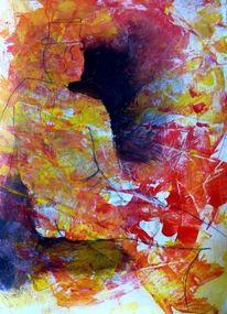 Farben, Abstrakt, Mann, Akt