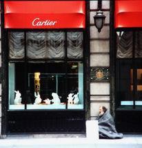 Obdachlosigkeit, Finanzkrise, Cartier, Fotografie