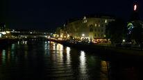 Nacht, Berlin, Spiegelung, Wasser