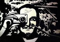 Druck, Linolschnitt, Linoldruck grafik, Portrait