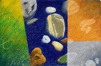 Stein, Kiesel, Pastellmalerei, Malerei
