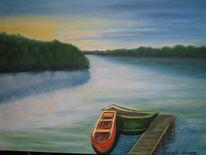 See, Wasser, Landschaft, Morgendlich