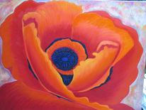 Blumen, Mohn, Rot, Malerei