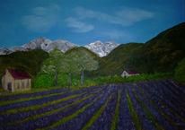 Malerei, Lavendelfeld