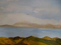 Landschaft, Meer, Malerei, Küstenlandschaft