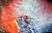 Schiff, Acrylmalerei, Galeere, Sturm