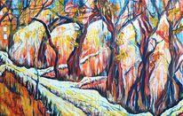 Wald, Weg, Landschaft, Baum
