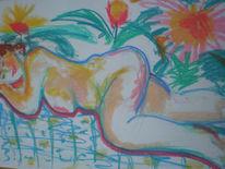 Sommer, Malerei, Pflanzen, Blumen