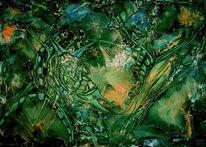 Sumpfmoormoderabsterbung urwald usw, Malerei, Abstrakt