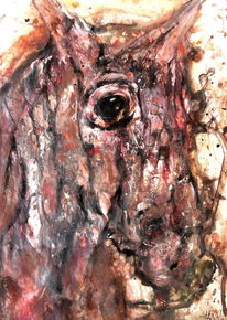 Augen, Pferde, Apokalypse, Fahl
