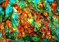Signatur, Orange, Farben, Malerei