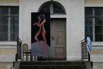 Surreal, Figurativ, Frau, Malerei
