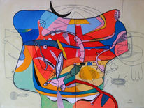 Figurativ, Acrylmalerei, Malerei, Malerei und grafik