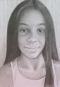 Porträt zeichnen lassen, Haare, Bleistiftzeichnung, Zeichnungen