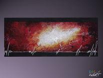 Feuer, Acrylmalerei, Weiß, Rot schwarz