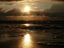 Sonnenuntergang, Wasser, Meer, Strand