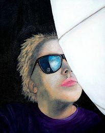 Portrait, Malerei, Rosa