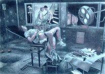 Krankenhaus, Krankheit, Menschen, Zeichnungen
