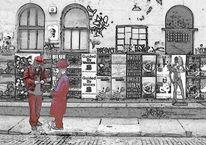Stadt, Straße, Menschen, Architektur