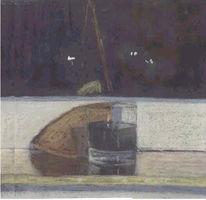 Malerei, Stillleben, Wein, Brot