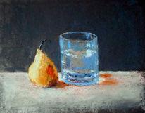 Birne, Stillleben, Glas, Wasser