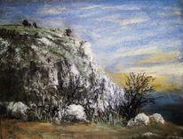 Felsen, Herbst, Malerei