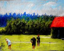 Golfplatz, Malerei