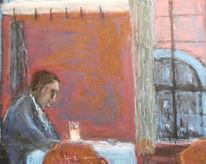 Mann, Bier, Gasthaus, Malerei