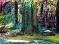 Park, Sommer, Baum, Licht