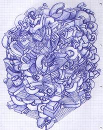Kugelschreiber, Skizze, Zeug, Zeichnungen