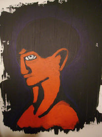 Junge, Comic, Acrylmalerei, Malerei