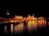 Stadt, Dresden, Elbe, Fotografie