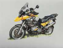 Gelb, Motorbike, Bmw, Moped
