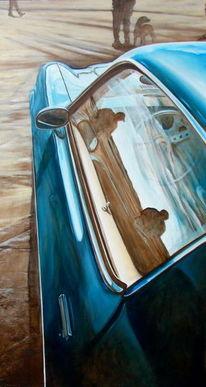 Chevy, Camaro, Spiegelung, Chevrolet