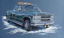 Chevy, Auto, Lkw, Pick up truck