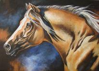 Gemälde, Acrylmalerei, Pferde, Haflinger