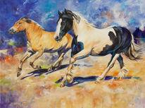 Pferde, Fjordpferd, Tinker, Malerei
