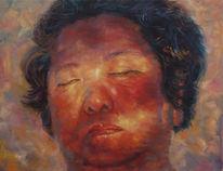 Malerei, Licht, Portrait, Mann