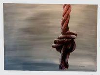 Acrylmalerei, Malerei, Knoten, Abstrakt