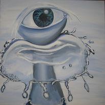 Wasser, Bewegung, Augen, Wachsamkeit