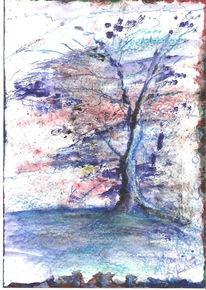 Zeichnungen, Abstrakt, Gefroren, Baum
