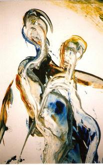 Malerei, Abstrakt, Herz,