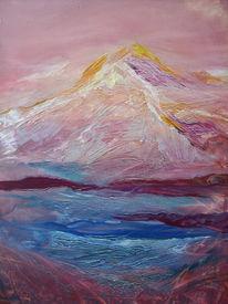 Malerei, Abstrakt, Italienische, Alpen