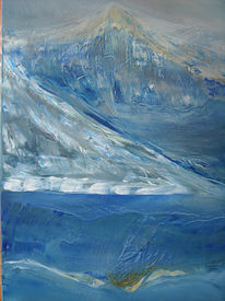 Malerei, Abstrakt, Alpen, Italienische
