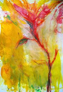 Malerei, Abstrakt, Orchidee