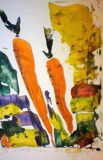 Garten, Früchte, Orange, Karotte