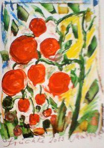 Garten, Früchte, Tomate, Rot