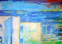 Malerei, Abstrakt, Meer, Mallorca
