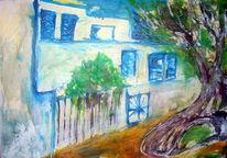 Malerei, Abstrakt, Promenade, Mallorca