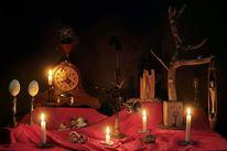 Objekt, Kerzenlicht, Surreal, Stillleben